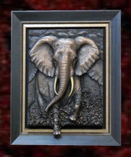 Wall Sculpture Art- Elephant Force