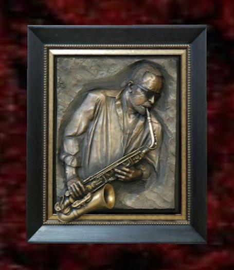 Wall Sculpture Art- Jazz Player