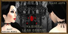 ~Black Arts~Vampira Gothic Lace Choker