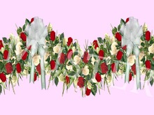 Rose Garland Red