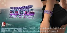 Eclectica Boho Bracelets- rich-pinks