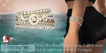 Eclectica Boho Bracelets- pale creams