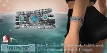 Eclectica Boho Bracelets- icy blues