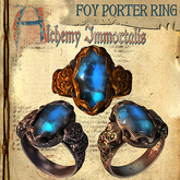 "(Copyable) ""Foy Porter"" Unisex Ring, Sapphire (3 different metals)"