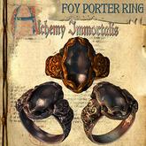 "(Copyable) ""Foy Porter"" Unisex Ring, Smoky Black Quartz  (3 different metals)"