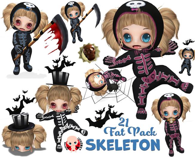 [ CHIBIT ] - Skeleton - 21 FAT PACK