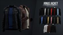 [Kauston] Jonas Jacket (Jckt:Black / Shrt:Dark Red)