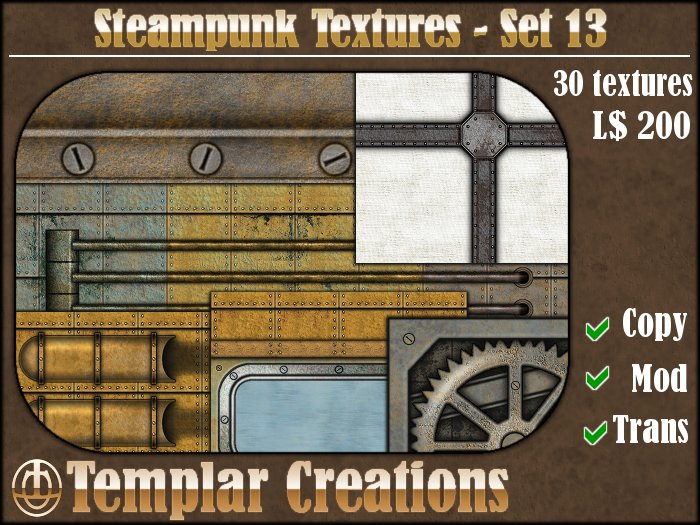 Steampunk Textures - Set 13