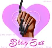 !! Pinky's Nails !! Blaq Set ' L-XXL Coffin