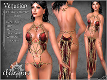 """Chaospire """"Venusian"""" Fantasy Outfit (Red)"""
