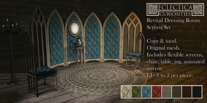 Eclectica Curiosities- Revival Dressing Room Screen Set
