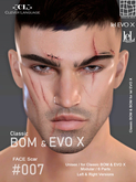 -[CL]- Face Scar  #007 - (CLA Bom & EVO X) **Unisex**
