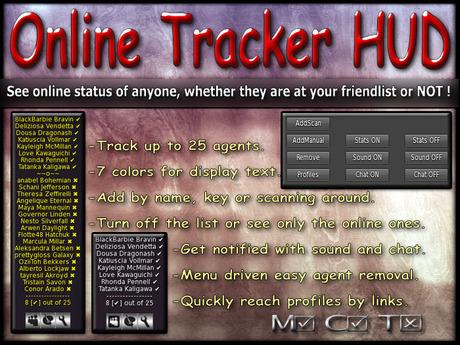 Online Tracker HUD  ( online status indicator / online detector / online monitor / avatar online indicator )