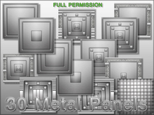 30 METAL PANELS TEXTURES  FULL PERM