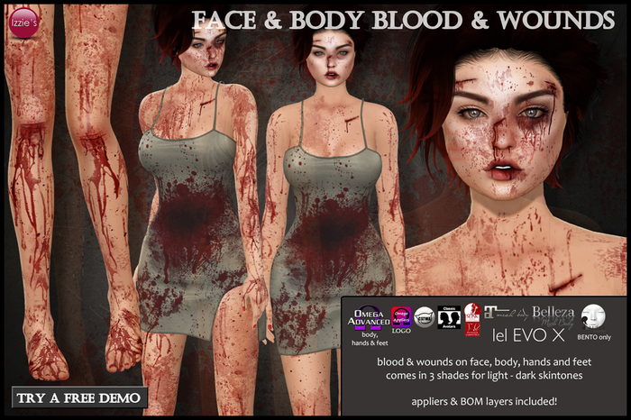 Izzie's - Face & Body Blood & Wounds