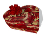Heart Gift Box (red roses) with gift bow - wrap your gift with a quality gift box