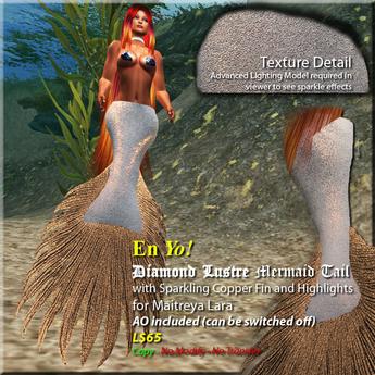 En Yo! Diamond Lustre Mermaid Tail Silver/Copper MAITREYA