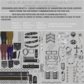 A Designer Leather Resource Kit II - Add on Kit. - FULL PERMS