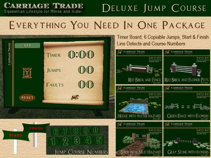 Deluxe Horse Jump Course FULL Package