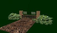 Brown Brick w/Mud Hazard Horse Jump