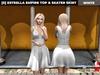 [S] Estrella Empire Top & Skater Skirt White