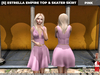 [S] Estrella Empire Top & Skater Skirt Pink