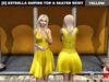 [S] Estrella Empire Top & Skater Skirt Yellow