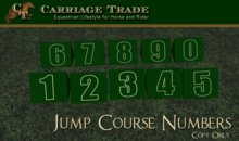 Horse Jump Course Numbers