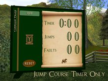 Deluxe Horse Jump Course TIMER ONLY