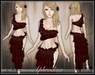 [Wishbox] Aphrodisia II (Rose Red): Romantic Silks - Goddess Belly Dance Kajira Medieval Fantasy