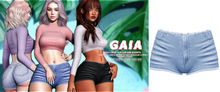 Gaia - nioly denim shorts//light blue