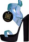 TO.KISKI - Asya Spring Sandals  - Black & Aqua (add me)