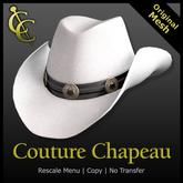 CC Reno Cowboy Hat: Felt {White}