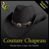 CC Reno Cowboy Hat: Felt {Black}
