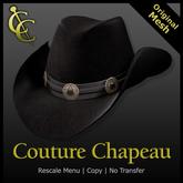 CC Reno Cowboy Hat: Leather {Black}