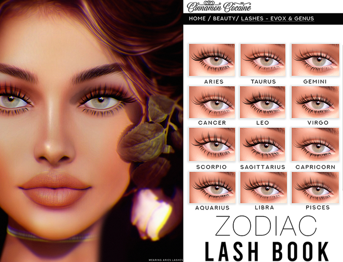 [Cinna Beauty] Zodiac Lash Book - GENUS & EVOX LELUTKA