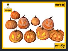 ::DisturbeD:: Pumpkins & Jack-o' Lanterns - FULL PERM MESH - Halloween