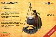 Cauldron - Medieval - rustic - Torvaldsland - viking - panther
