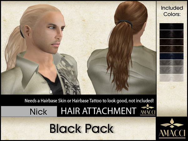 Amacci Hair ~ Nick - Black Pack