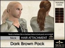 Amacci Hair ~ Nick - Dark Brown Pack