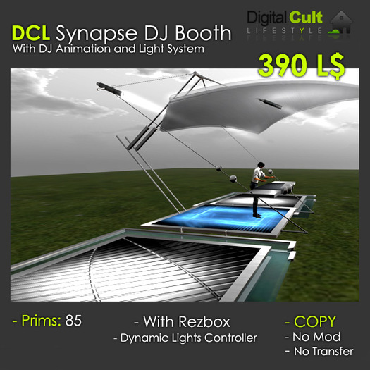 *** DCL Synapse Dj Booth --- With dance plaforms