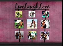 [&Hearts;] Live Laugh Love Picture Frame