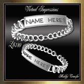 Virtual Impresions, Richard Men's ID Bracelet in Silver