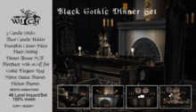 PROMO!!!W&Co. Gothic Dinner Set Boxed