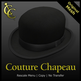 CC Classic Derby Bowler Hat : Black{Mesh}