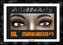AdelleArts Steampunk Amber Eyes