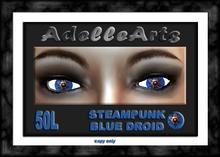 AdelleArts Steampunk Blue Droid Eyes
