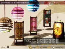 *:..Silvery K..:*JapaneseTraditional furniture(LightSET)