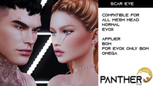 PANTHER TATTOO-Scar Eyes New-BoM [ Bakes on Mesh ] & Appliers Omega