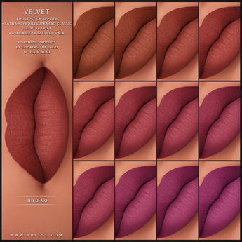 Nuve. Velvet lipstick - DEMO